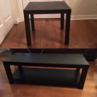Black/Brown Coffee Table And End Table !