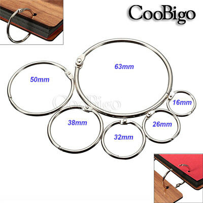 Loose Leaf Book Binder Hinge Snap O Ring Locking Keychain Album Scrapbook Crafts