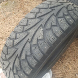 4 225 60 R18 studded winter tires used 4 months