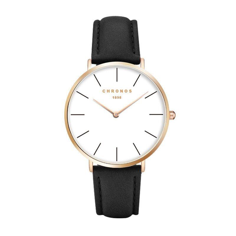 Lord Andrew Chronos - Charcoal & Gold Edition - Luxury Minimalistic Watch