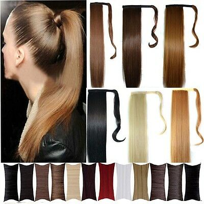 sale Wrap Around clip in ponytail hair extensions pony tail Straight/curly wm