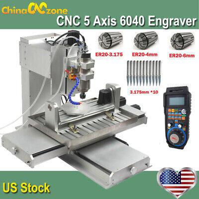 Chinacnczone Cnc 5axis 6040 2200w Engraver Machine Usb Cnc Metal Milling Machine