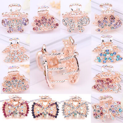 Hair Accessories Crystal Alloy Bowknot Peacock Butterfly Hair Claw Clip Clamp](Peacock Accessories)