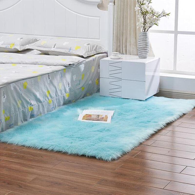 Fluffy Anti-Skid Shaggy Rugs Bedroom Living Room Floor Floor Mat