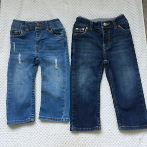 2 pairs LEVIS Baby Murphy Fit Pull On Straight Fit Jeans - $20