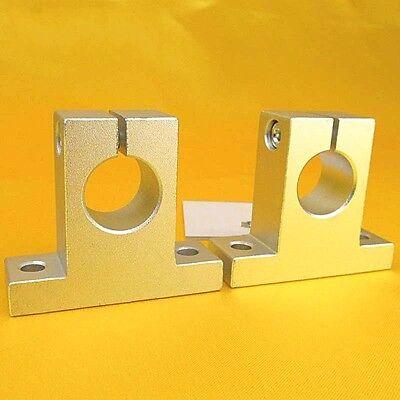 Sk12 Bearing Cnc Aluminum Linear Rail Motion Shaft Support 12mm Sk Series X 2pcs
