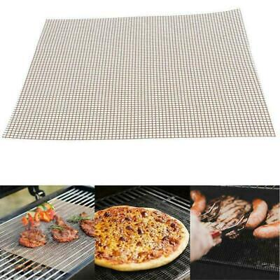BBQ Grill Wire Mesh Non-Stick Mat Reusable Teflon Sheet Resistant Barbecue Meat