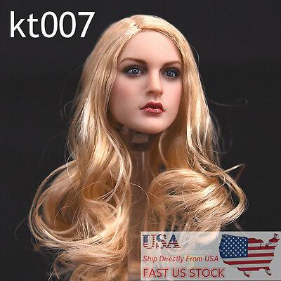 Kimi Toys Kt007 1 6 Long Hair Head Model Sculpt F 12  Female Phicen Body Usa St