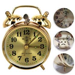 Mechanical Classic Silent Metal Vintage Alarm Clock Quartz Movement Bedside Sale