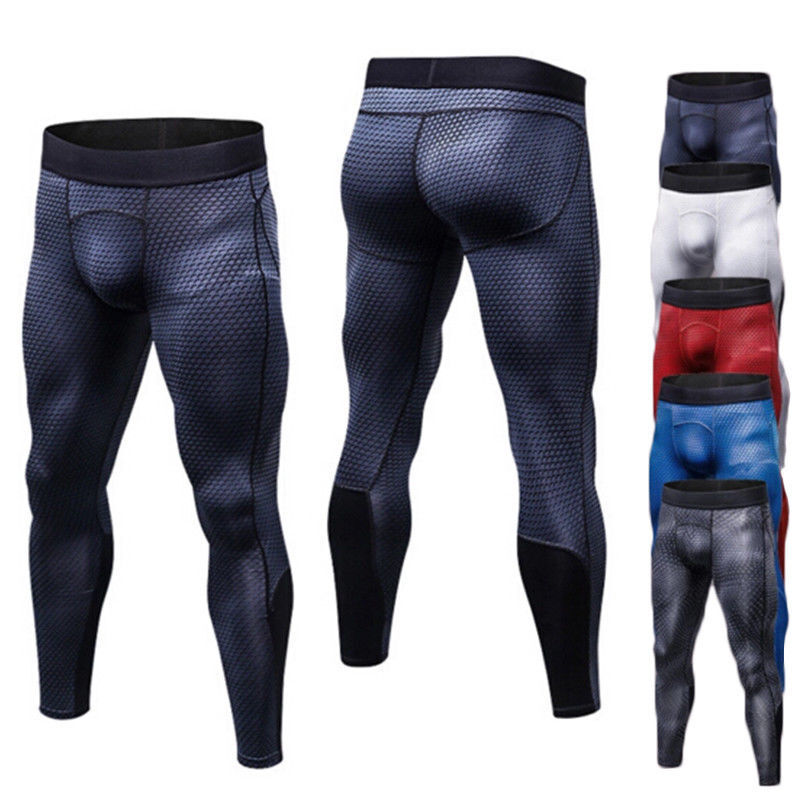 Mens Compression Base Layer Bottoms Gym Sports Fitness Pants Leggings Bottoms Activewear