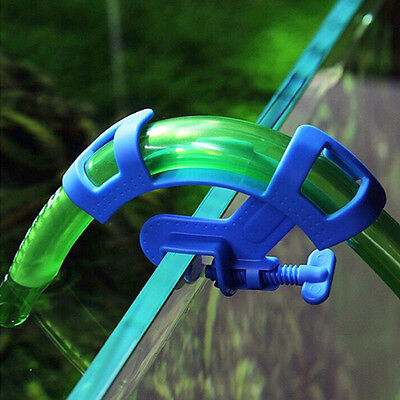 Aquarium Filtration Water Pipe Hose Holder For Mount Tube Tank Blue