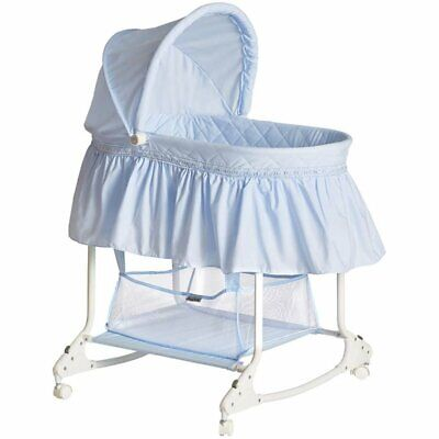 Dream On Me Willow Bassinet in Sky Blue