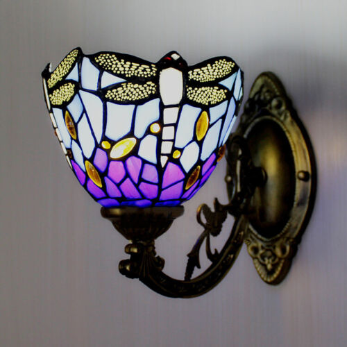Modern Vintage Tiffany Stained Glass Wall Sconce Wall