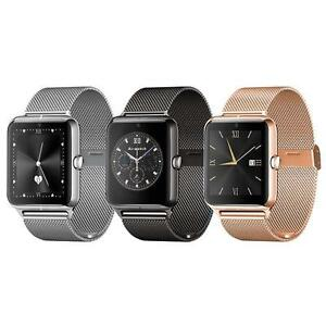 Bluetooth  Smart Watch Stainless Steel Smartwatch Support SIM ( UNLOCKED INTERNATIONAL )  Wristwatch For IOS Andro