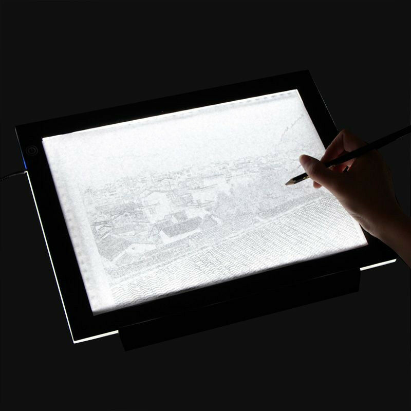 A3 a4 led slim art craft drawing tracing tattoo light box for Table lumineuse a3