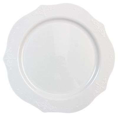 Antique Collection White China-Like Plastic Plates Various Sizes Wedding 60 120 - White Plastic Plates