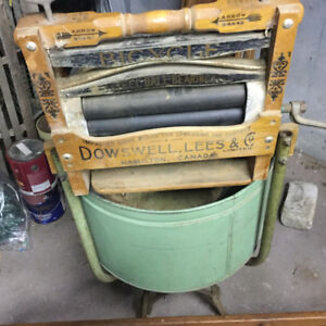Antique washer/ and extras ....