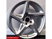 "18"" RIVER R4 Alloy wheels & Tyres LEON, A3 MK2 MK3 VW Passat, Jetta, Golf MK5, MK6, MK7, Caddy"