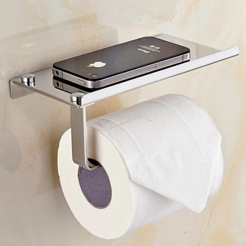 WC Badaccessoires Rollenhalter Wandhalterung Toilettenpapierhalter Edelstahl
