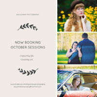 Now booking October sessions