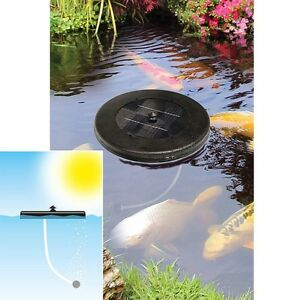 Solar Powered Floating Pond Oxygenator For Fish Plants Pump No Wires Ebay