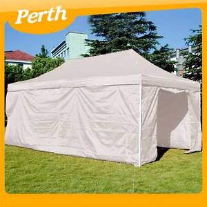 3X6M Folding Gazebo Marquee Pop up Outdoor Canopy HC-07-WHITE WA Canning Vale Canning Area Preview