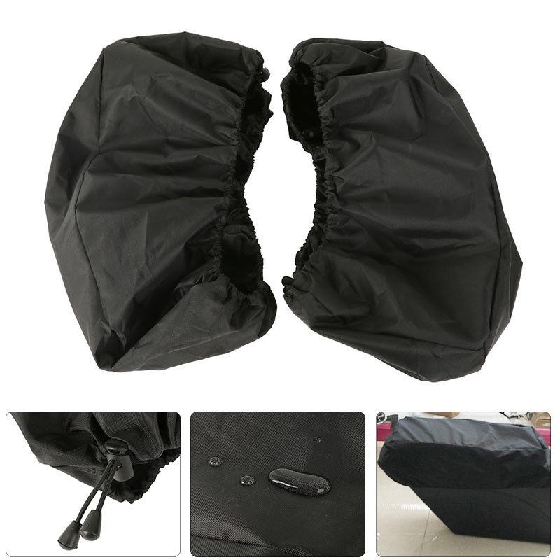 2X Waterproof Saddle Bag Lid Cover Nylon Black For Harley Road King Electra