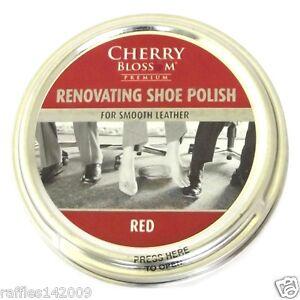 Cherry Blossom Red Shoe Polish