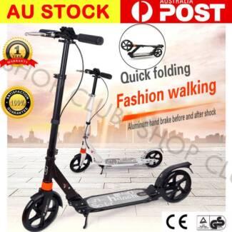 Hand Break Design 200mm Diameter Big Wheel Push Scooter Adult