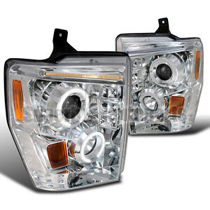 2008-2010 Ford F250/F350/F450 Led Projector Clear Halo Headlight