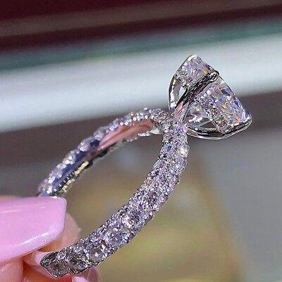 Shine crystal  Wedding Engagement Band Ring size 5-13 For Women 14K Gold Filled