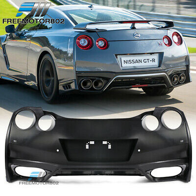 Fits 09-18 Nissan GTR R35 OE Factory Rear Bumper Cover Conversion Black - PP