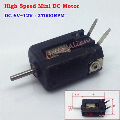 Micro Carbon Brush Mini Motor Dc 6v 9v 12v 27000rpm High Speed Diy Rc Toy Model
