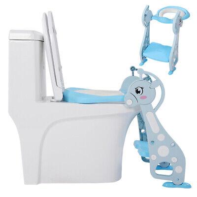 Toilettentrainer Kinder Baby Toilettensitz Lerntöpfchen Leiter WC Sitz Blau