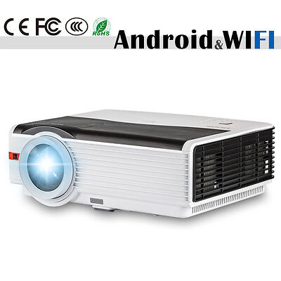 HD LED Home Theater Video Projector Android Wifi 1080p HDMI USB Download Apps