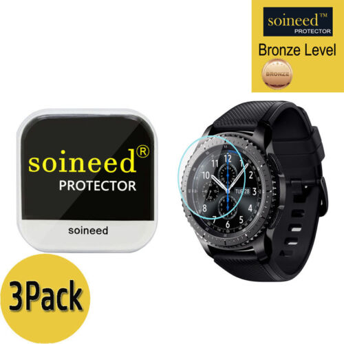 [3-PACK] SOINEED Tempered Glass Screen Protector For Samsung Gear S3 Frontier