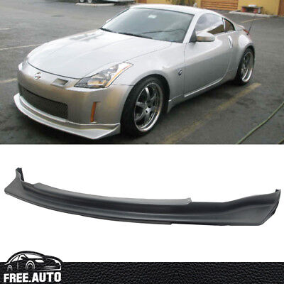 Fits 03-05 Nissan 350Z JDM N-Style Black PU Front Bumper Lip Spoiler Bodykit for sale  Shipping to Canada