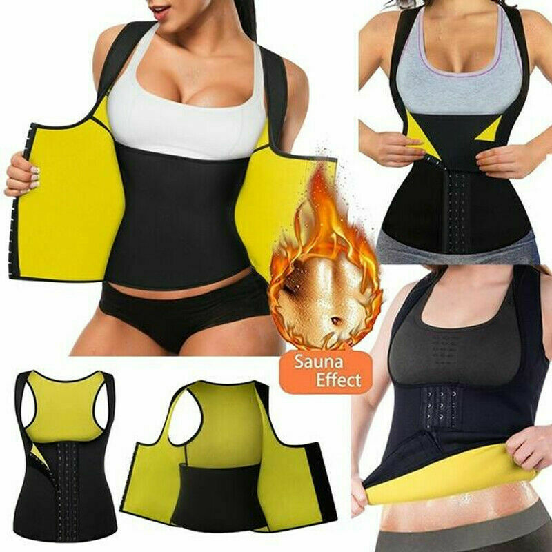Fajas Sweat Waist Trainer Vest Colombianas Reductoras Sauna Body Shaper Cincher Clothing, Shoes & Accessories