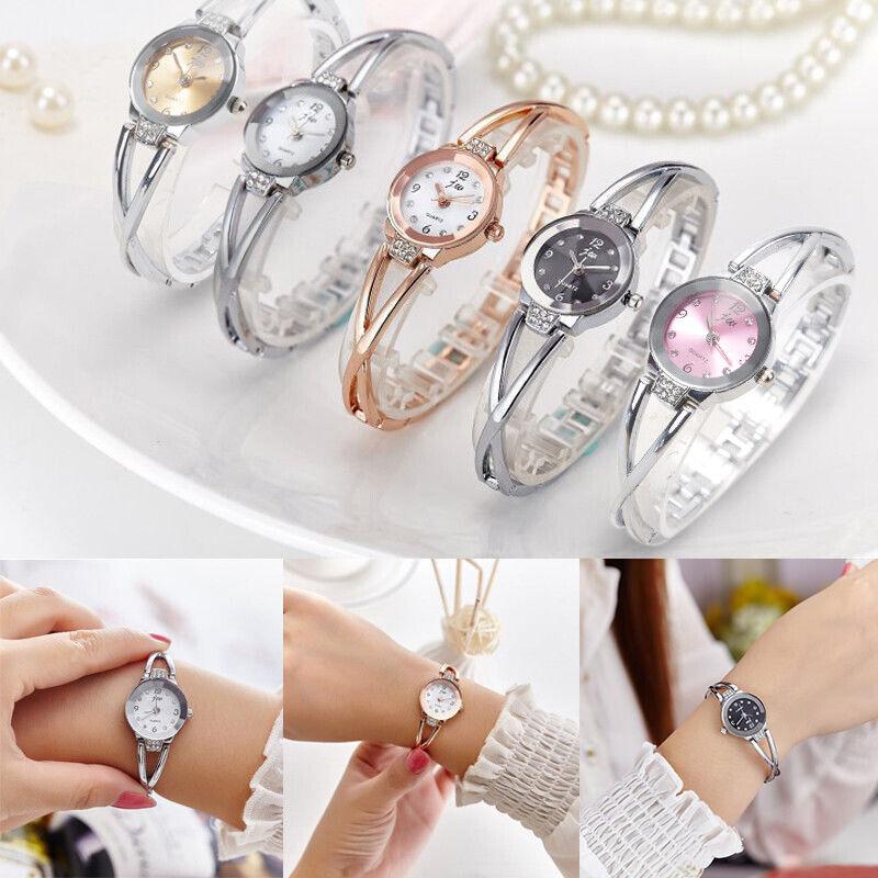 Fashion Women Ladies Bracelet Wrist Watches Round Quartz Ana