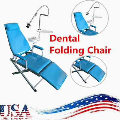 Mobile Dental Portable Folding Chair Unit Flushing And Water Supply Led Light Us