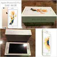BRAND NEW IPHONE 6S PLUS 64G GOLD UNLOCKED BELOW COST/NO WAITING