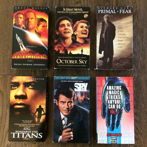 Assortment of VHS Tapes