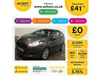 Ford Fiesta 1.0, 1.2, 1.4, EcoBoost Titanium Zetec GREY, 3dr FROM £41 PER WEEK