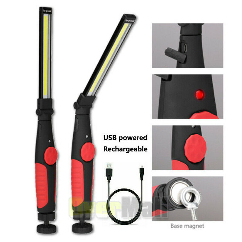10000LM Multifunction COB LED Work Light Lamp Flashlight Magnetic Rechargeable