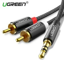 Ugreen Braided RCA Cable HiFi Stereo 2RCA to 3.5mm Audio Cord For Amplifiers