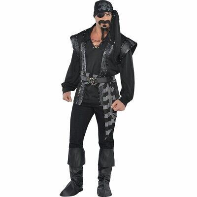 Dark Sea Scoundrel Pirate Halloween Costume for Men, Standard up to 195lbs NIP](Pirate Halloween Costumes For Men)
