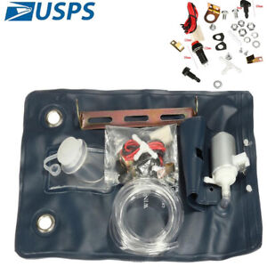 Universal Windshield Washer Pump Bag Kit Jet Button Switch Classic Car 12V US