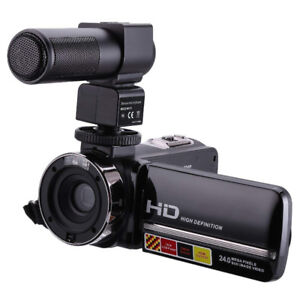 FLYING Camcorder 1080P 16X Digital Zoom 3 inch Touch Screen Port
