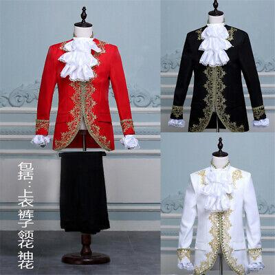 König Prinz Renaissance Mittelalterliche Männer Cosplay Kostüm Mantel + Hose - König Kostüm Männer