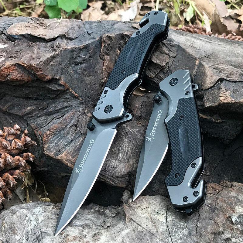 Camping Knife EMT Pocket Hunting Folding Evisceration Fishing Super Strong Knife